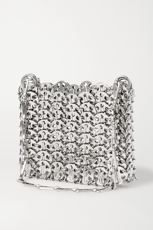 Paco Rabanne Nano 1969 Schultertasche aus Metall-Mesh mit Pailletten