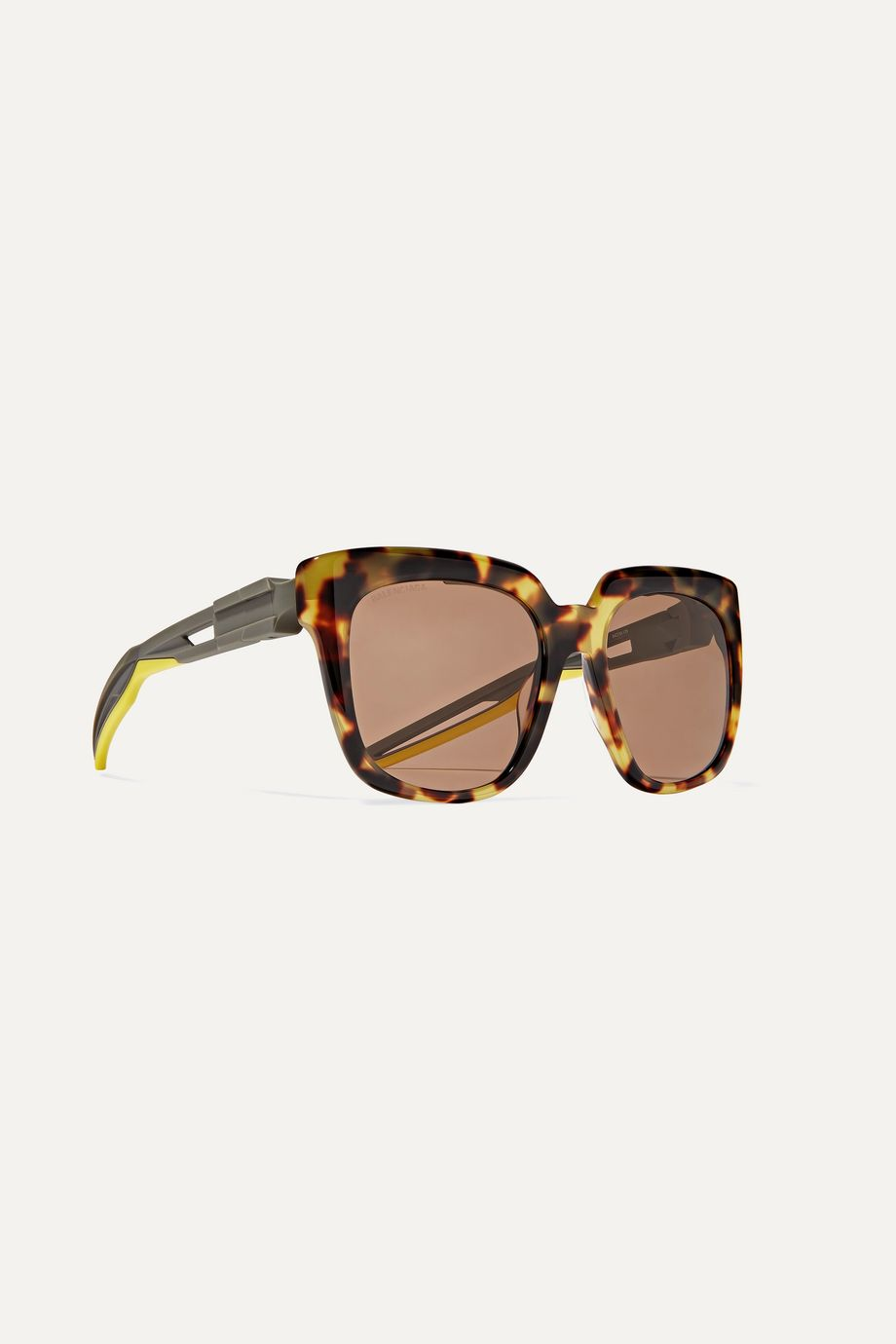 Balenciaga Hybrid oversized cat-eye acetate sunglasses