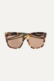 Hybrid oversized cat-eye acetate sunglasses