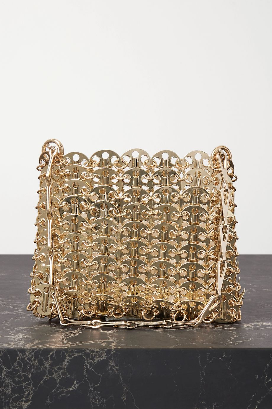 Paco Rabanne Nano 1969 Schultertasche aus Metall-Mesh
