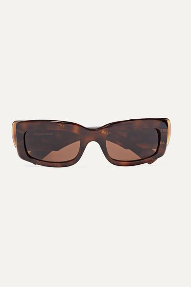 Balenciaga - Paris Printed Square-frame Tortoiseshell Acetate Sunglasses - one size