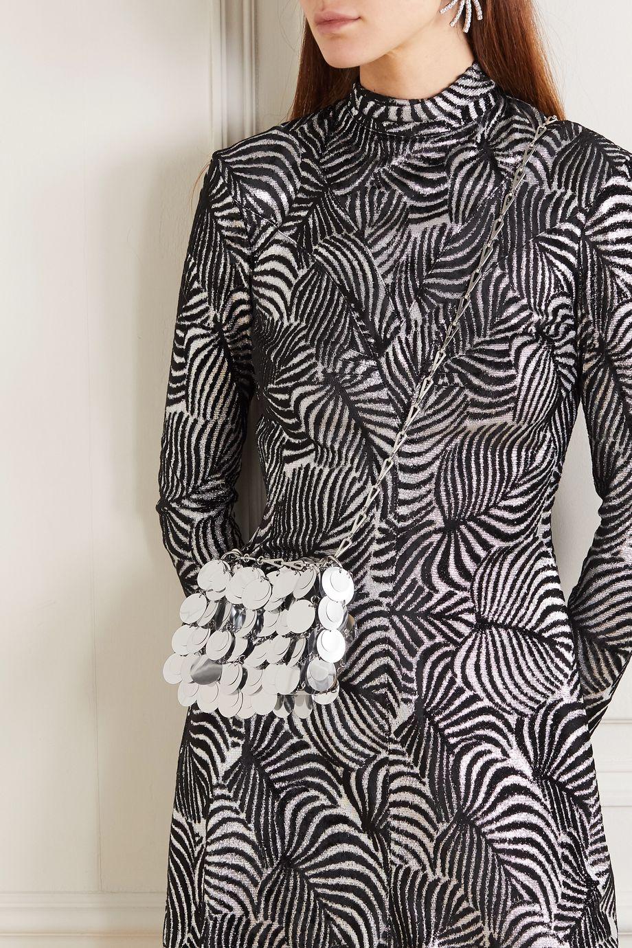 Paco Rabanne Iconic 1969 亮片缀饰锁子甲单肩包