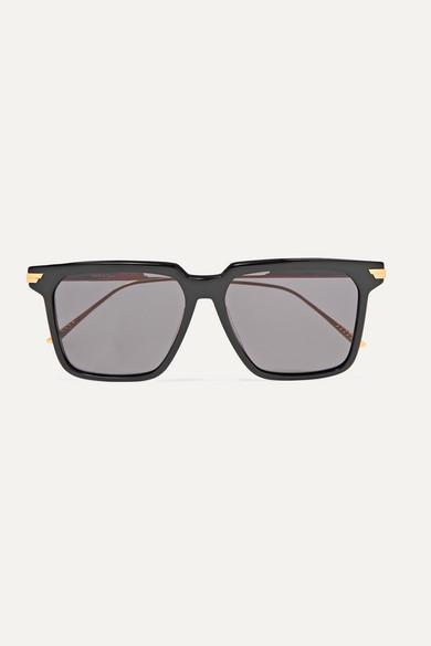 light-ribbon-square-frame-acetate-and-gold-tone-sunglasses by bottega-veneta