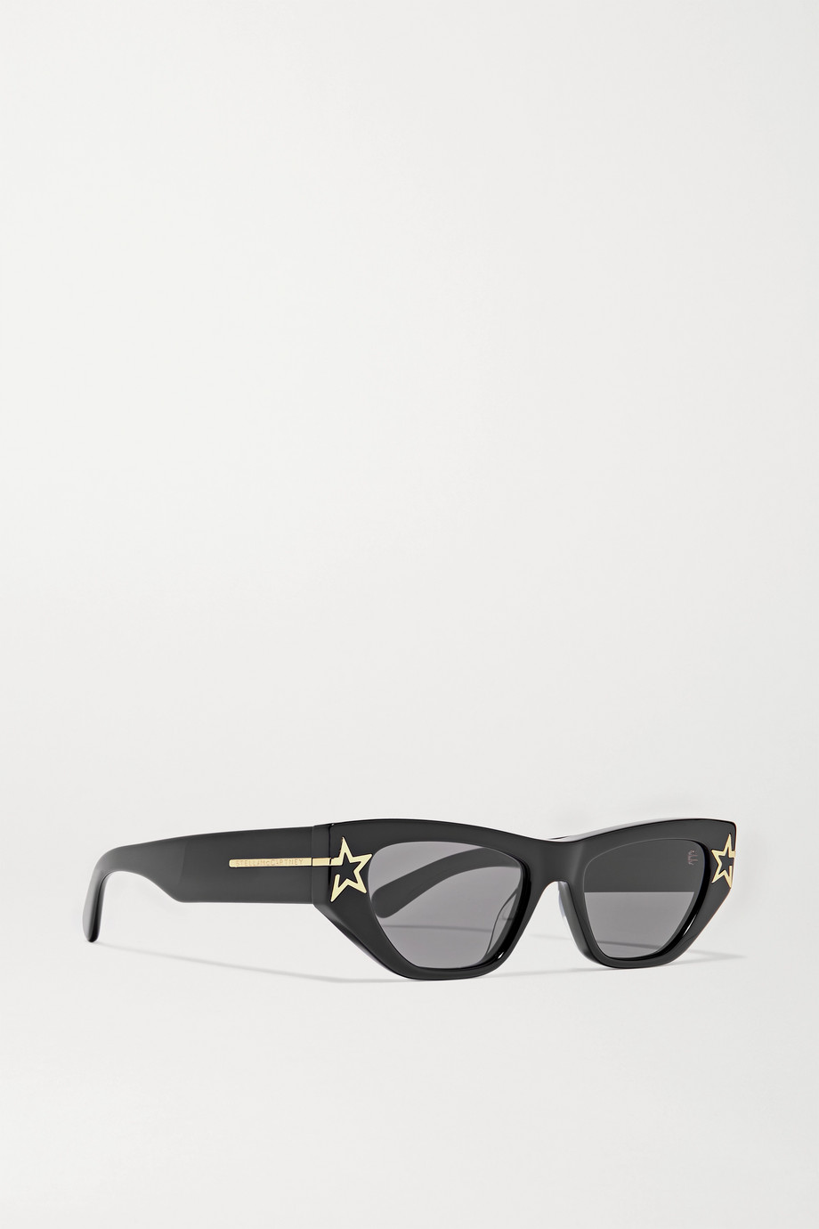 Stella McCartney Stars cat-eye bio-acetate and gold-tone sunglasses