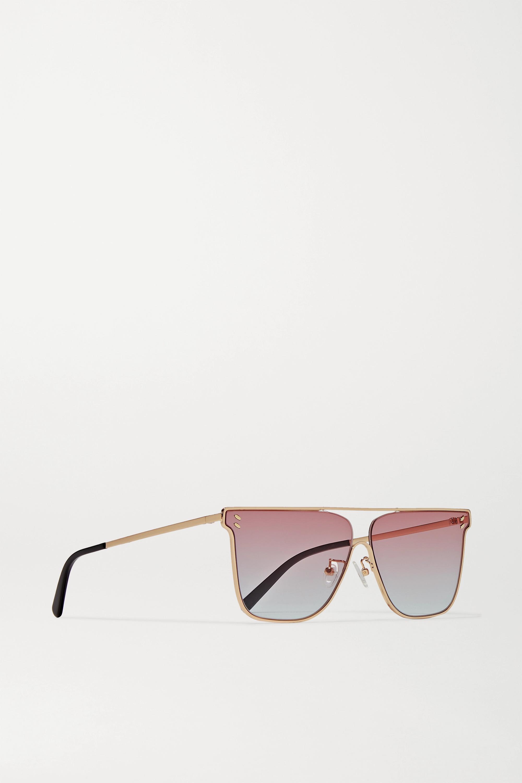 Stella McCartney D-frame gold-tone sunglasses