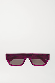Stella McCartney Iconic D-Frame crystal-embellished bio-acetate sunglasses