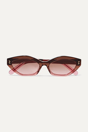 Stella McCartney Cat-eye dégradé bio-acetate sunglasses