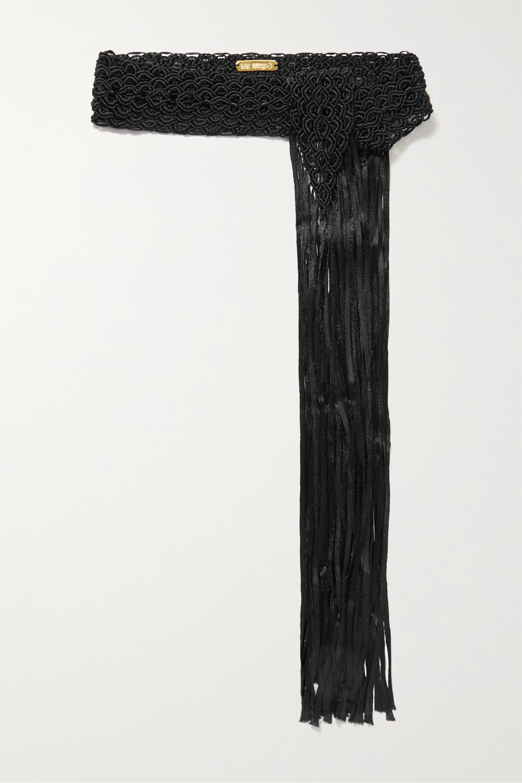Bibi Marini Fringed macramé belt