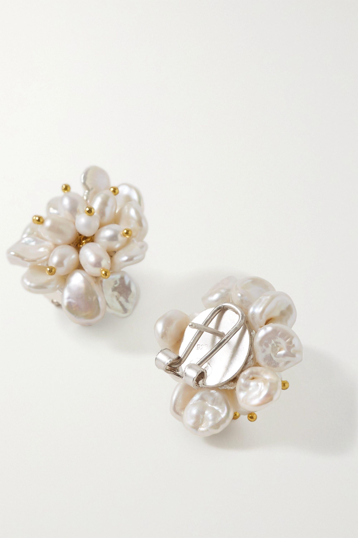 White Gold-plated Pearl Earrings | Bibi Marini
