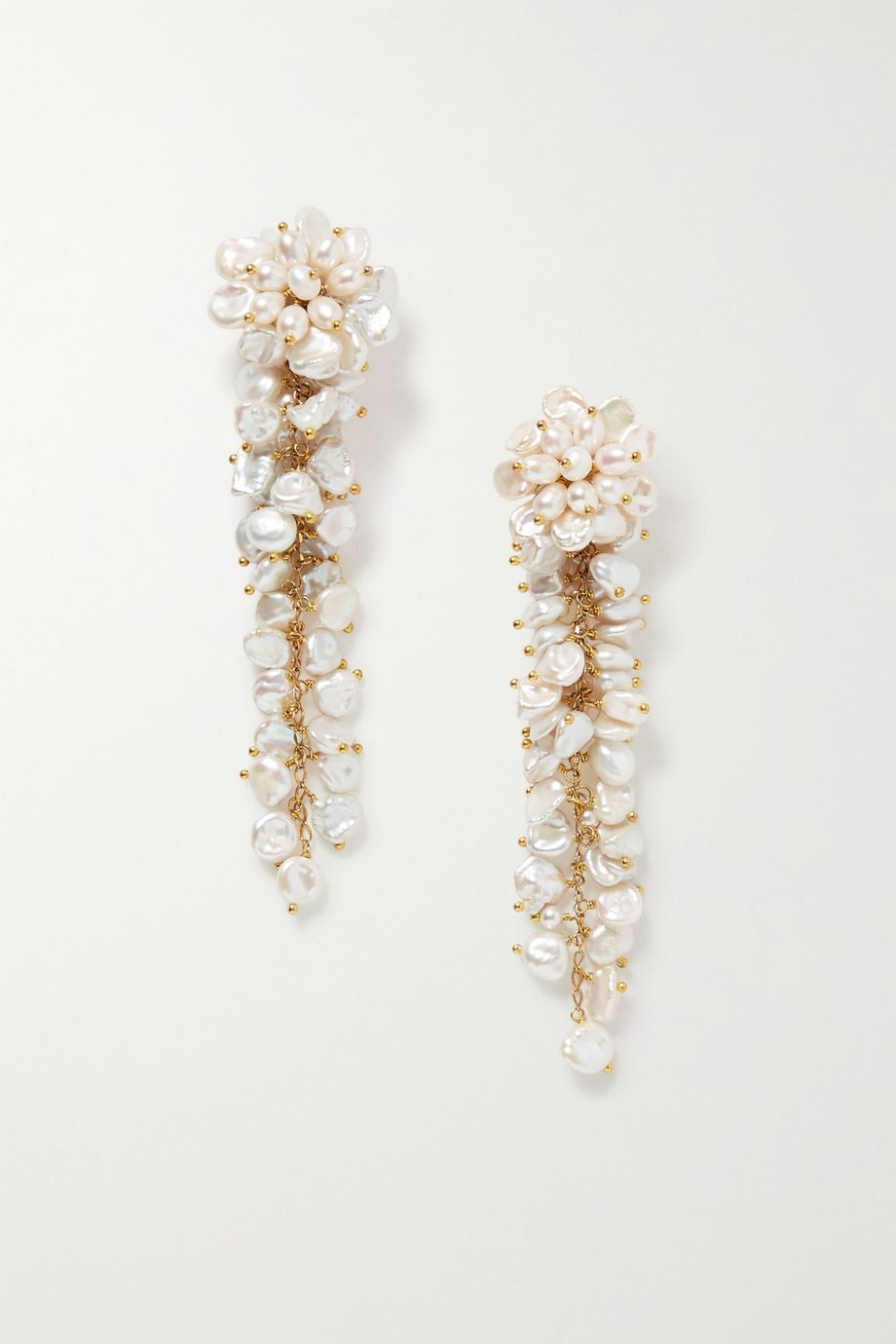 Bibi Marini Gold-plated pearl earrings