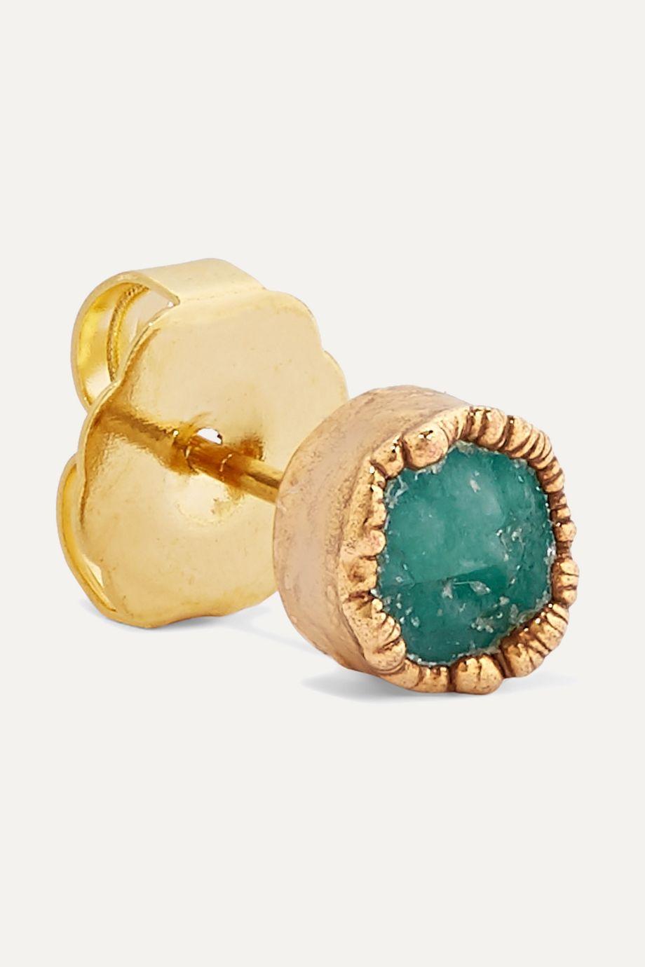 Bibi Marini Gold-plated emerald earrings