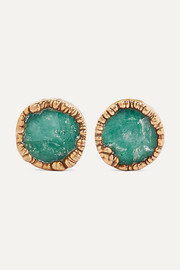 Bibi Marini Gold-plated emerald earrings