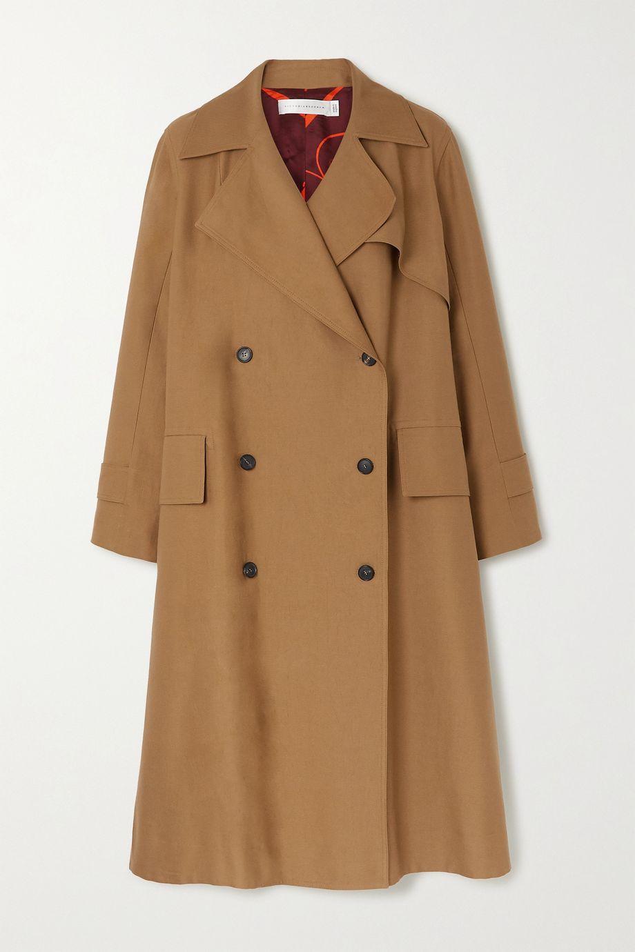 Victoria Beckham Cotton-blend canvas trench coat
