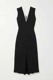 Victoria Beckham Cutout two-tone crepe dress