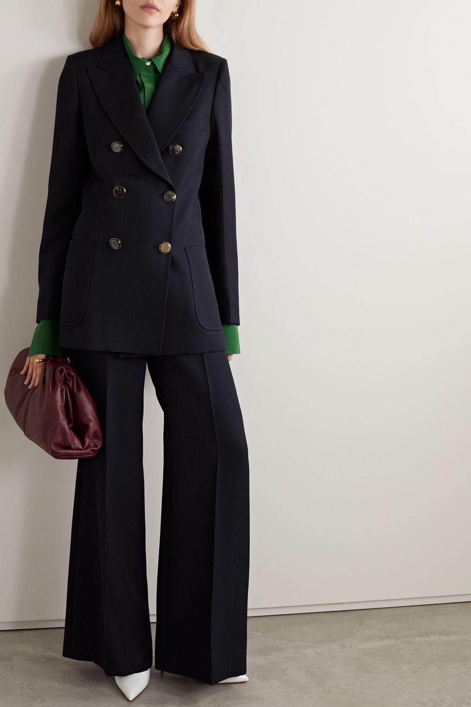Victoria Beckham Double-breasted twill blazer
