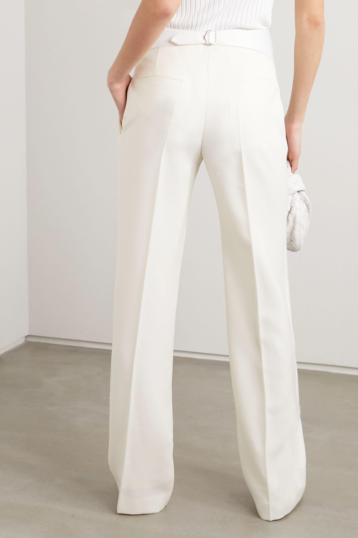 Victoria Beckham Grain de poudre wool straight-leg pants