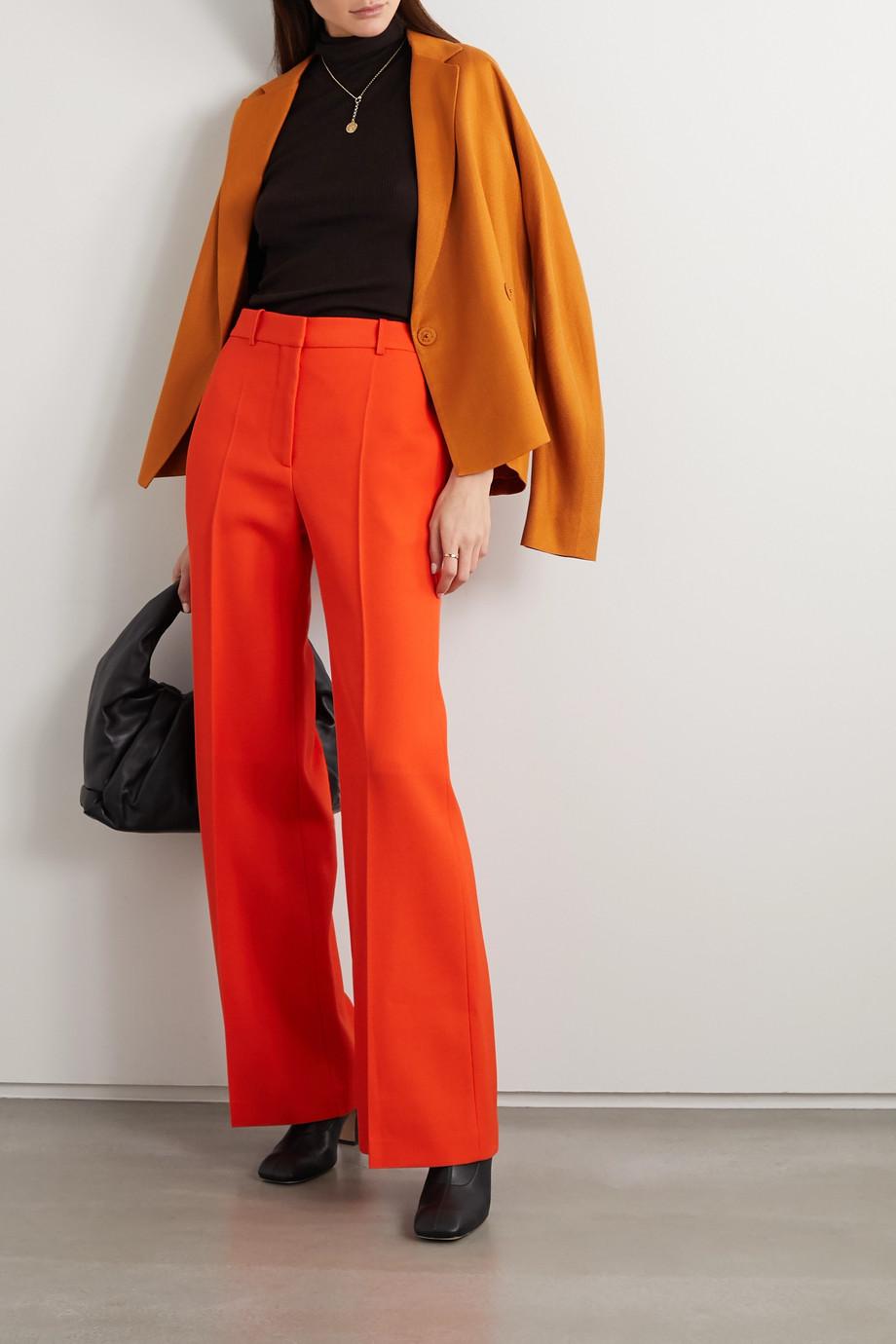 Victoria Beckham Wool-gabardine wide-leg pants