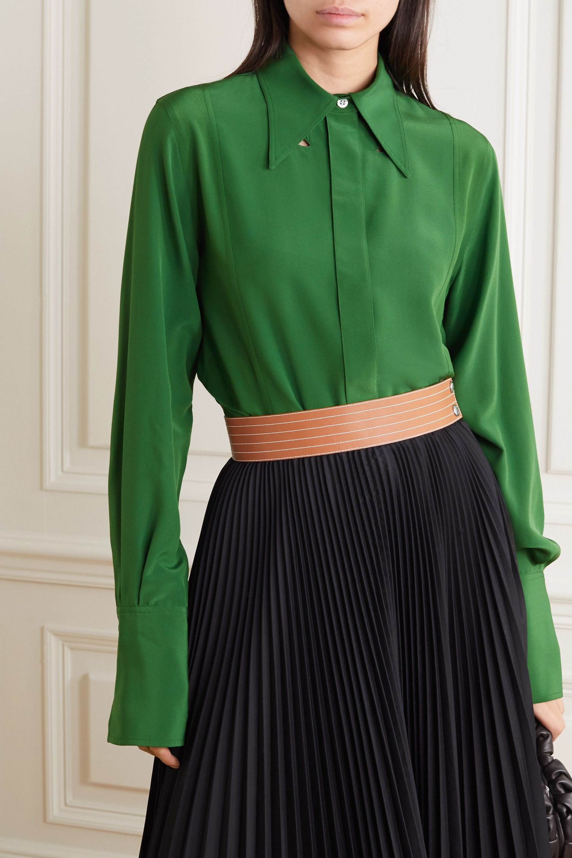 Victoria Beckham Cutout silk crepe de chine blouse