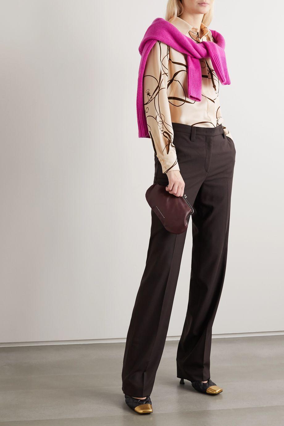 Victoria Beckham Printed crepe blouse