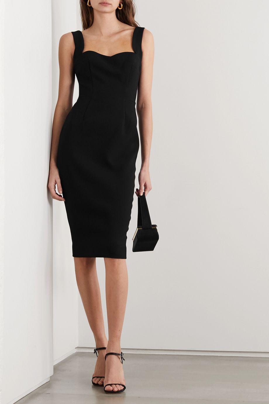 Victoria Beckham Paneled crepe midi dress