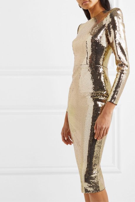 Williams sequined crepe midi dress