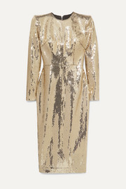 Alex Perry Williams sequined crepe midi dress