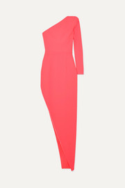 Alex Perry Jolie one-sleeve asymmetric crepe dress