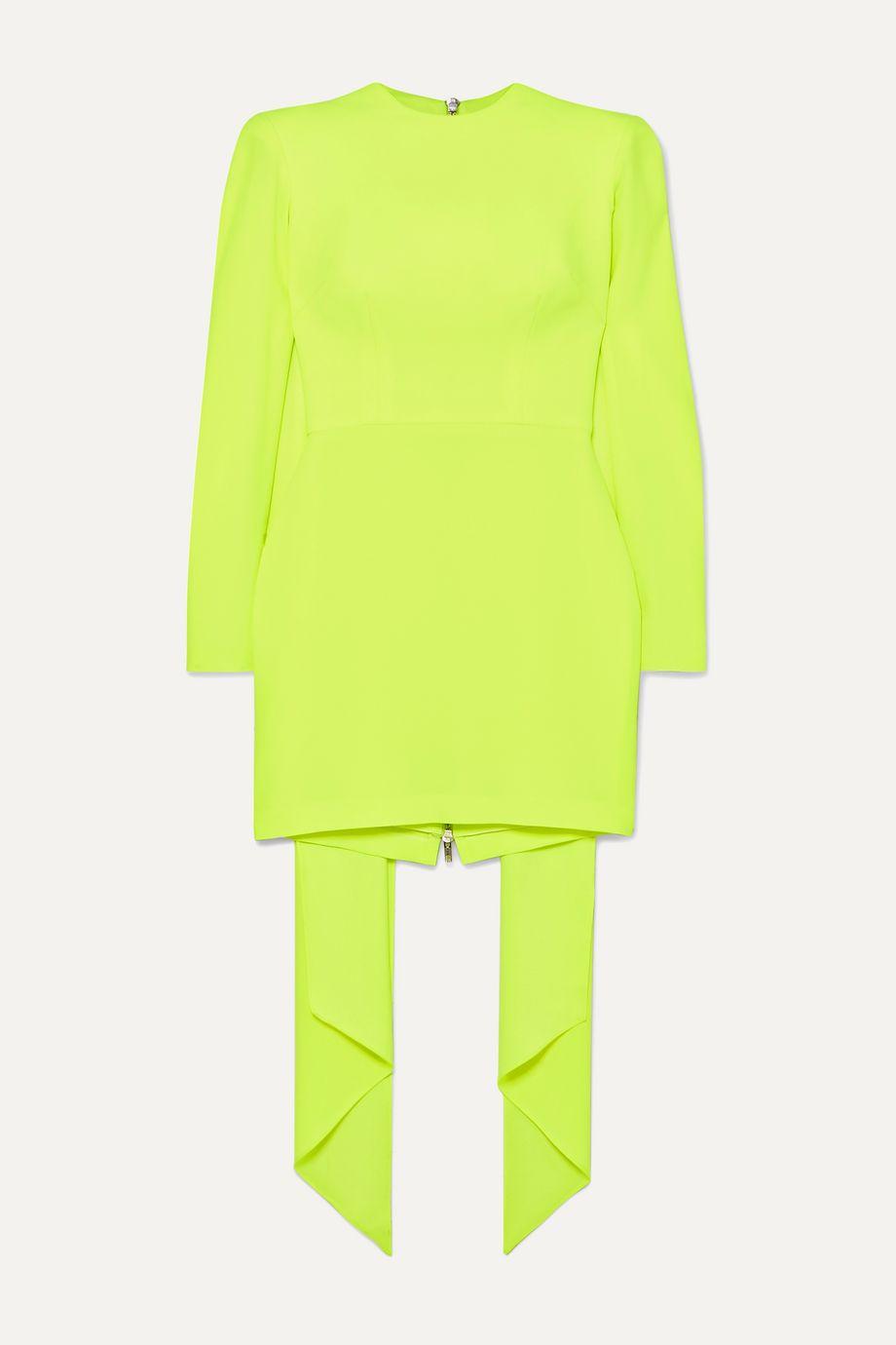 Alex Perry Roberts draped satin-crepe mini dress