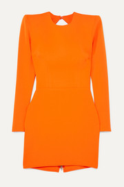 Alex Perry Kira open-back crepe mini dress