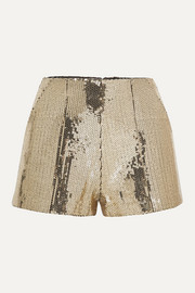 Alex Perry Henderson sequined crepe shorts