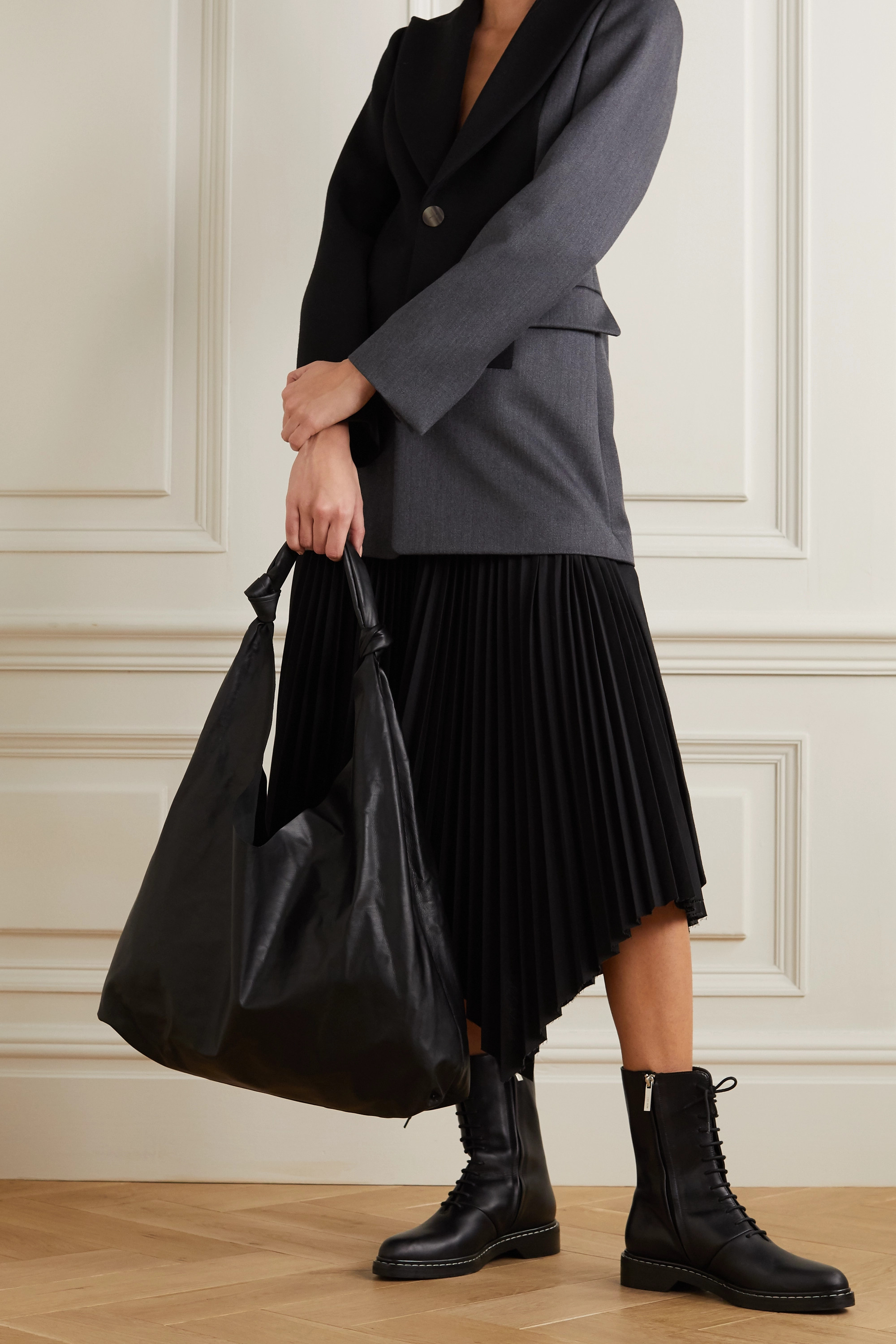 The Row Bindle Two leather shoulder bag