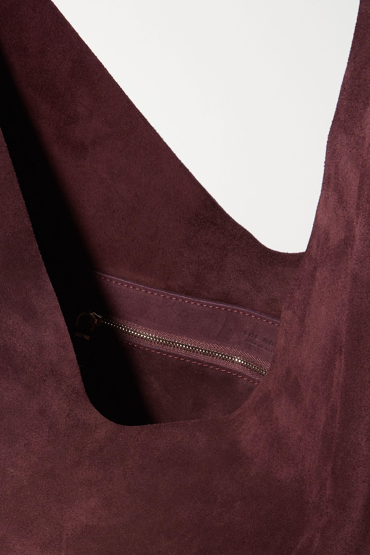 The Row Bindle suede shoulder bag
