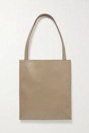 The Row Flat leather tote