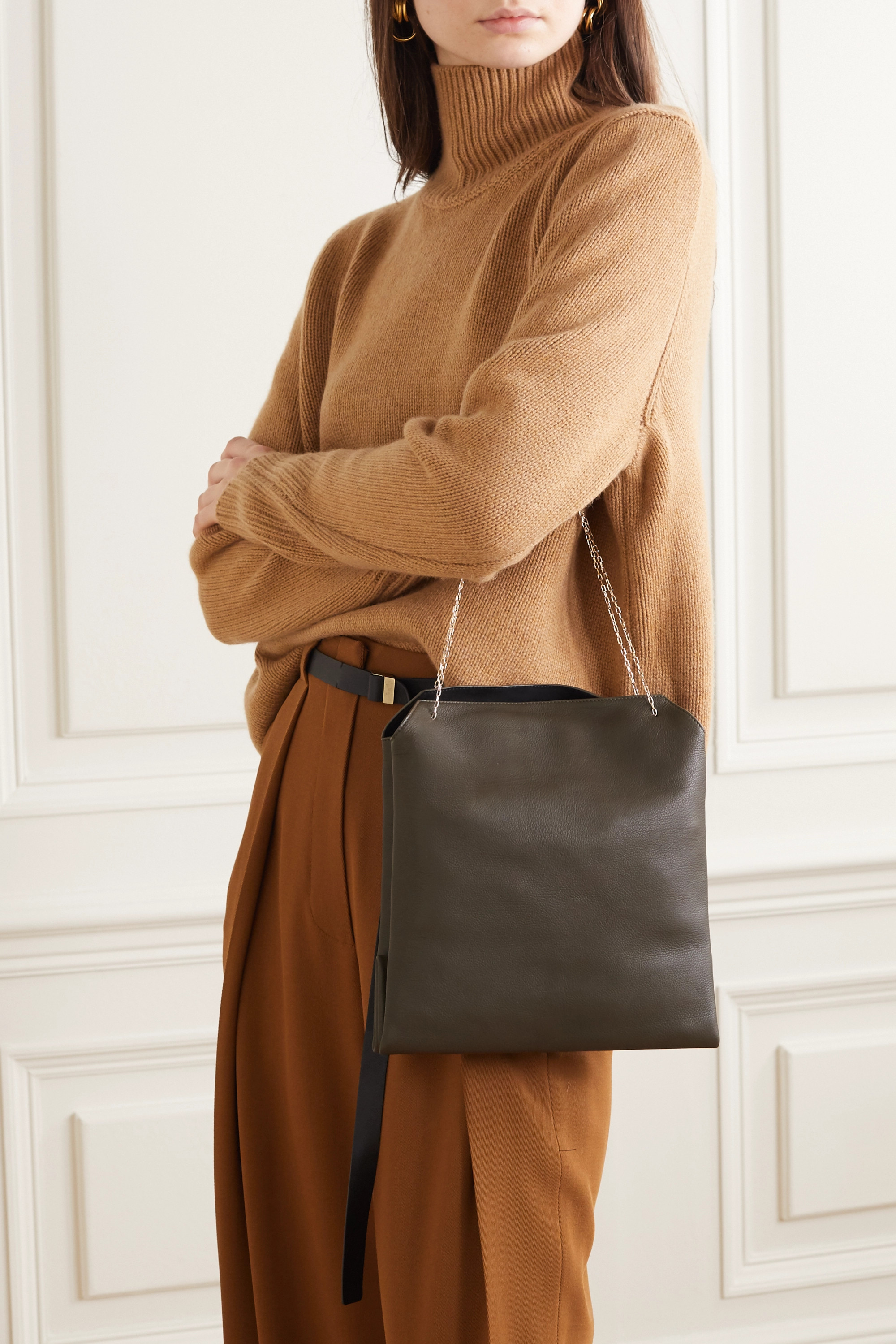 The Row Lunch Bag leather tote