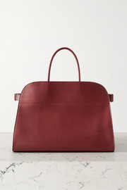 The Row Margaux 17 buckled leather tote