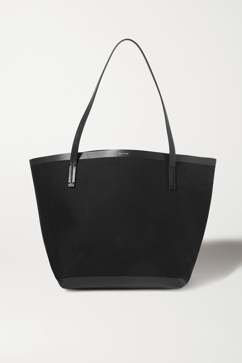 The Row Park large leather-trimmed canvas tote
