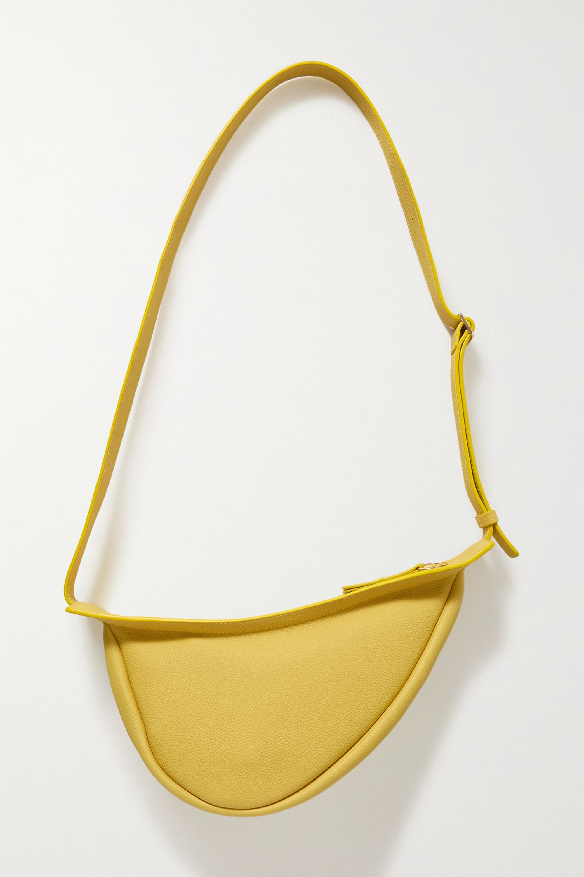 The Row Slouchy Banana small textured-leather shoulder bag