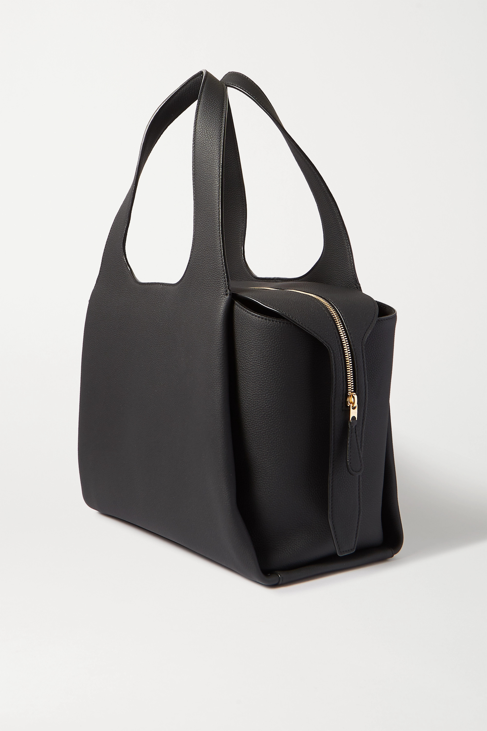 The Row TR1 large textured-leather tote