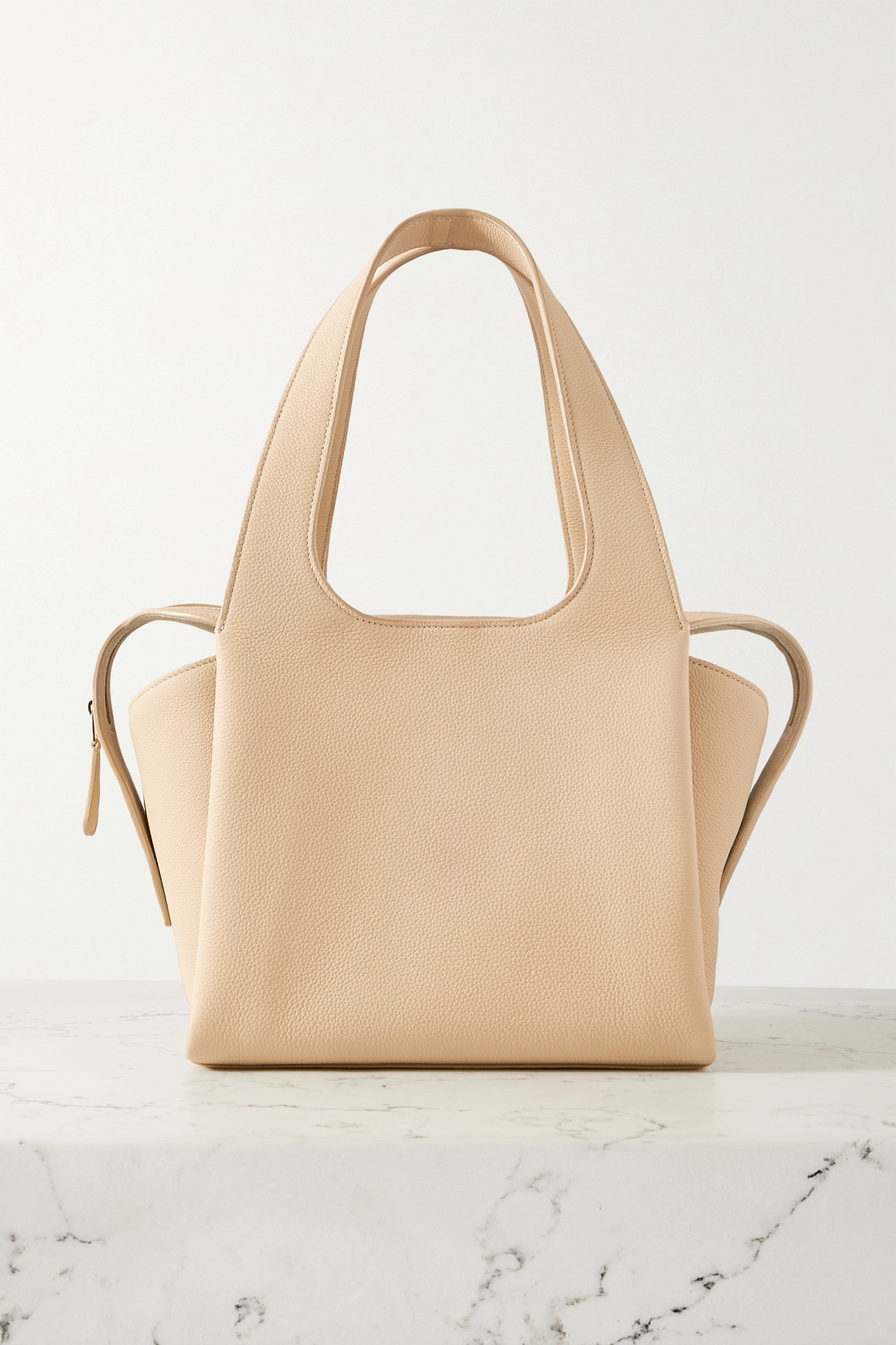 The Row TR1 small textured-leather tote