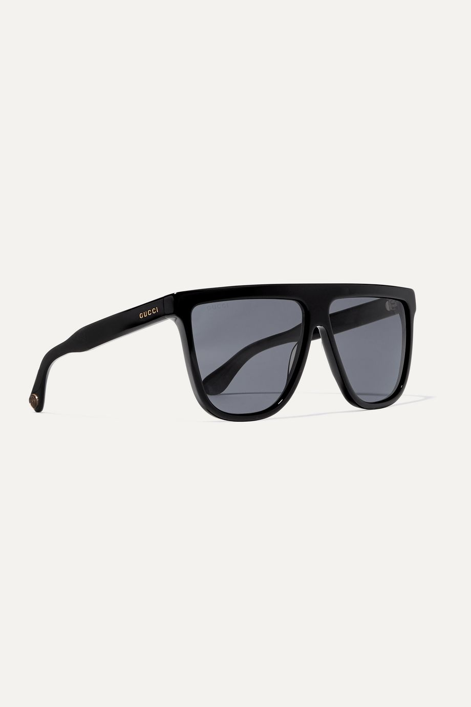 Gucci Guillochet oversized D-frame acetate sunglasses