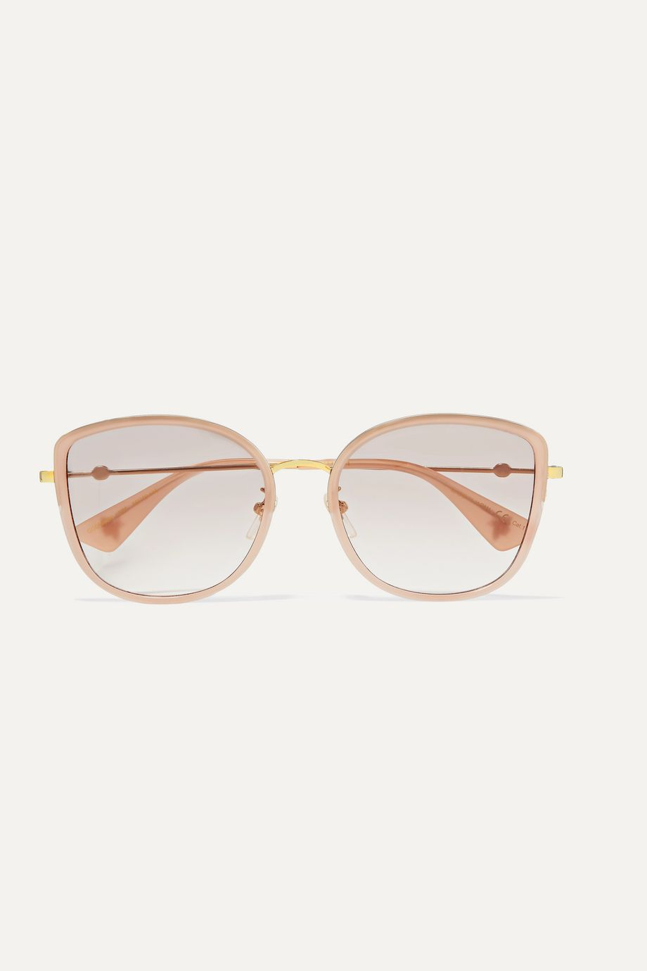 Gucci Oversized square-frame acetate and gold-tone sunglasses