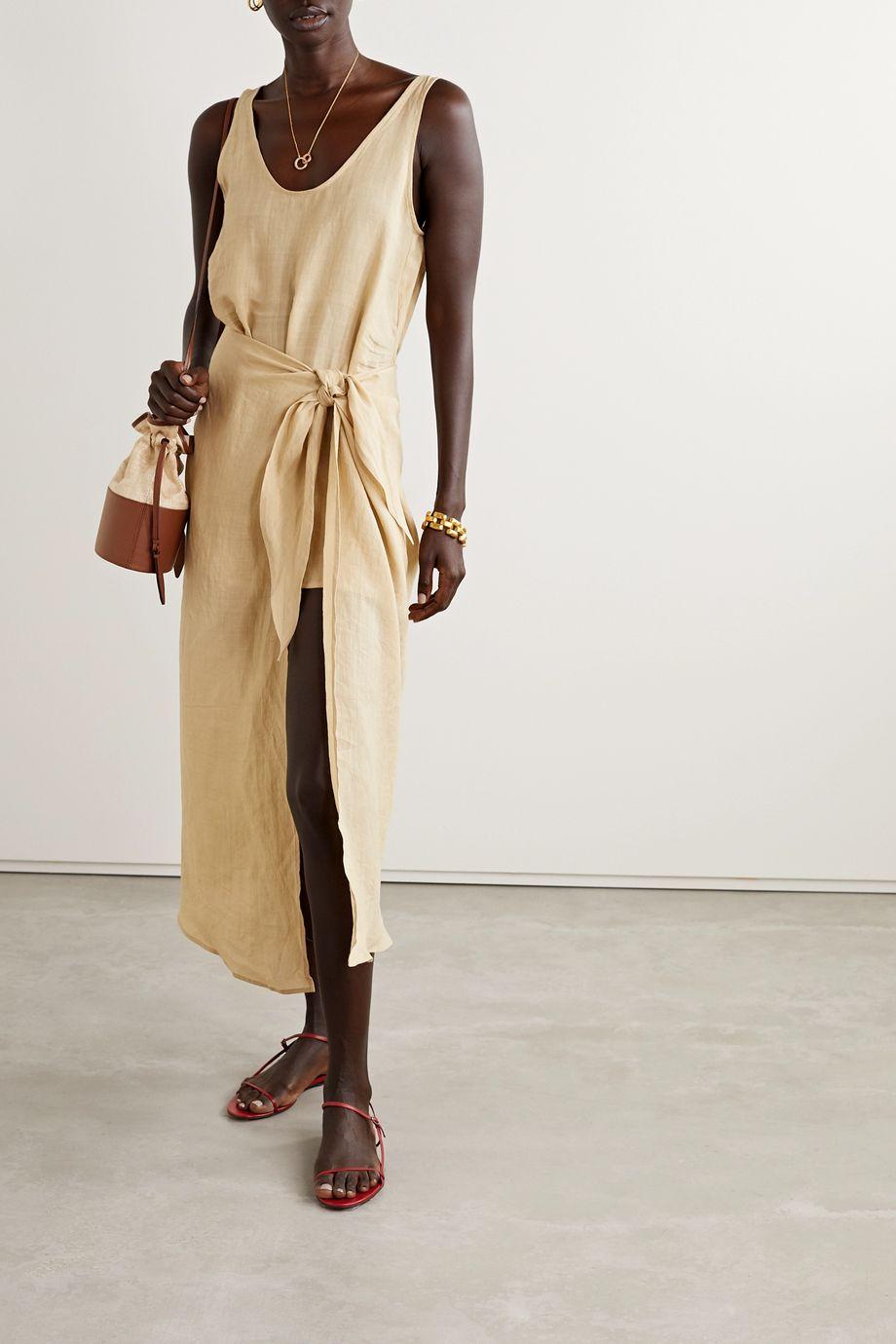Anemone Ramie wrap dress
