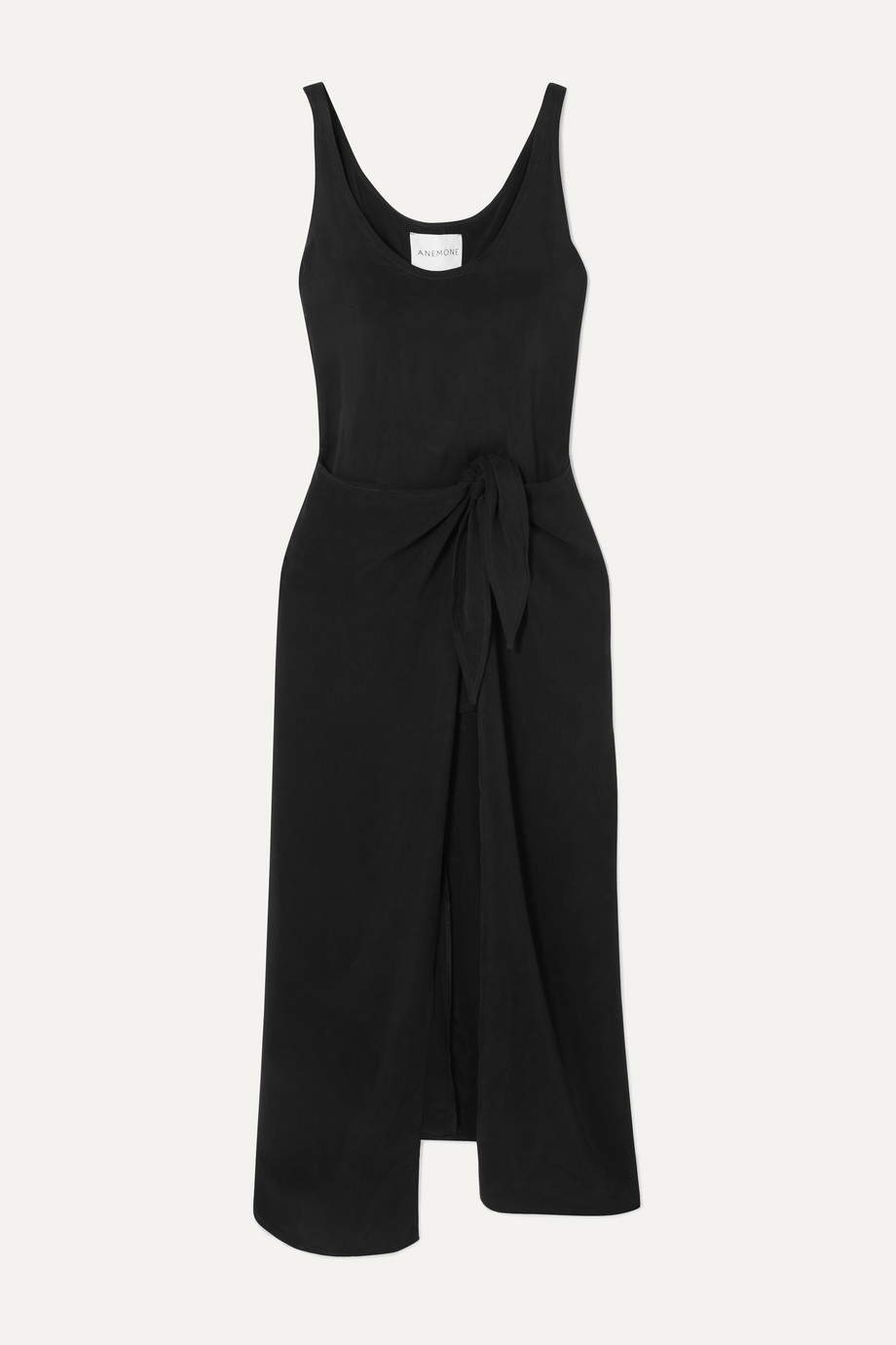 Anemone Cupro wrap dress