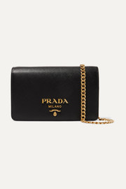 Prada Wallet On A Chain textured-leather shoulder bag