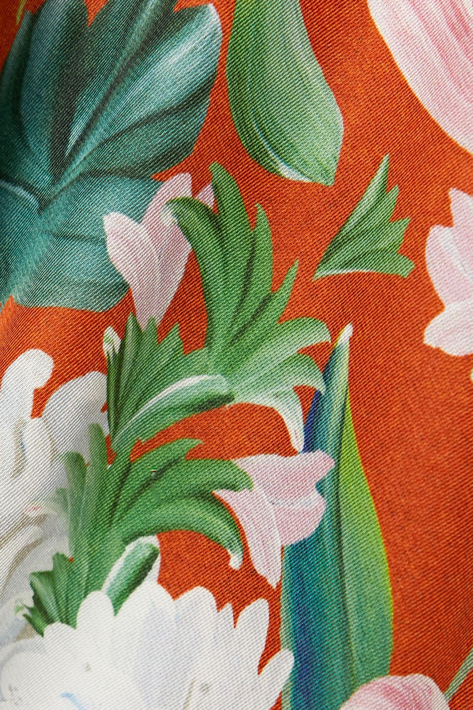 palmer//harding Julia 配腰带印花缎面斜纹布衬衫