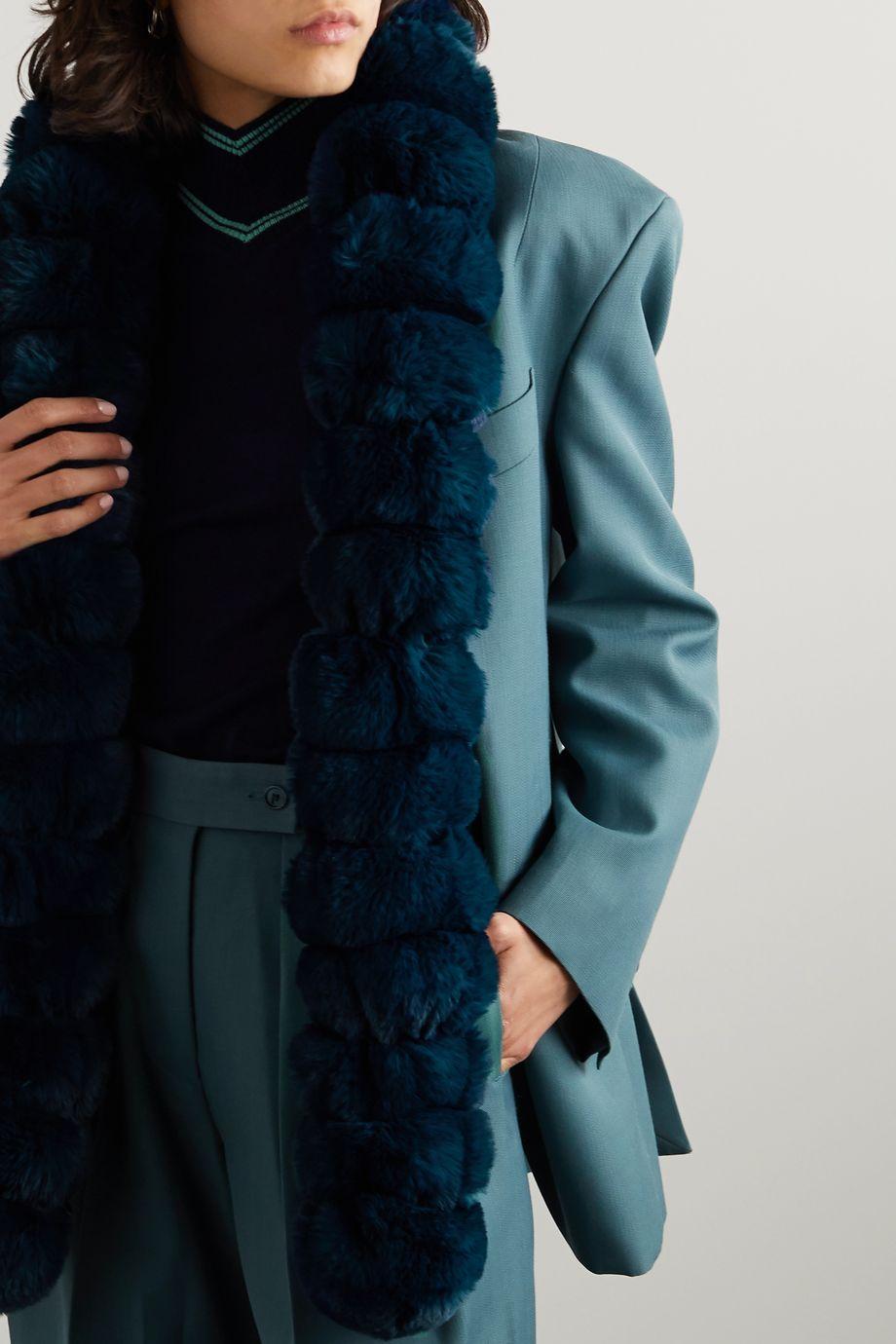 Emma Brewin Faux fur scarf