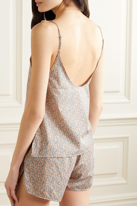Les Girls Les Boys Floral-print cotton-poplin pajama set