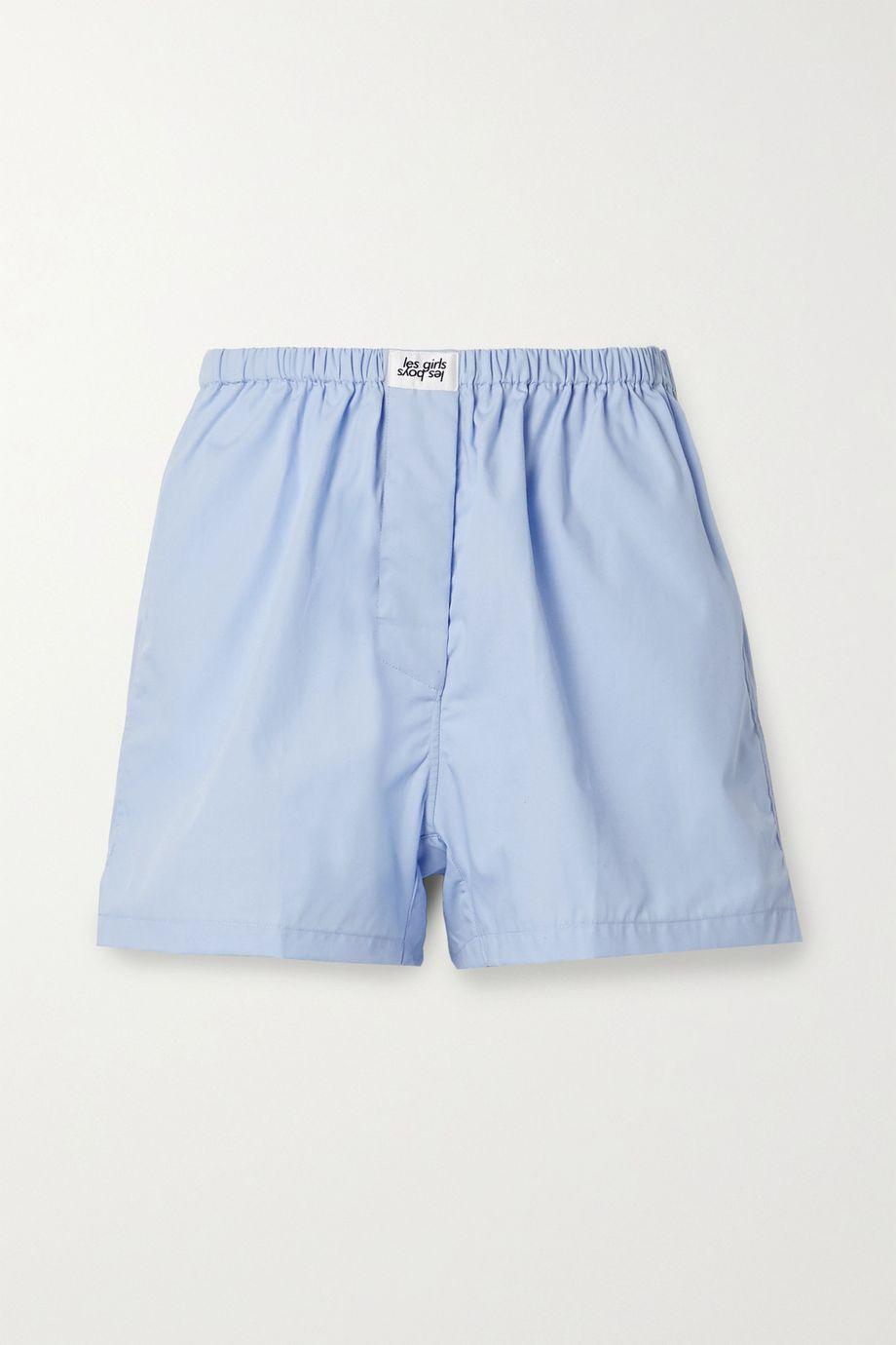 Les Girls Les Boys Appliquéd cotton pajama shorts