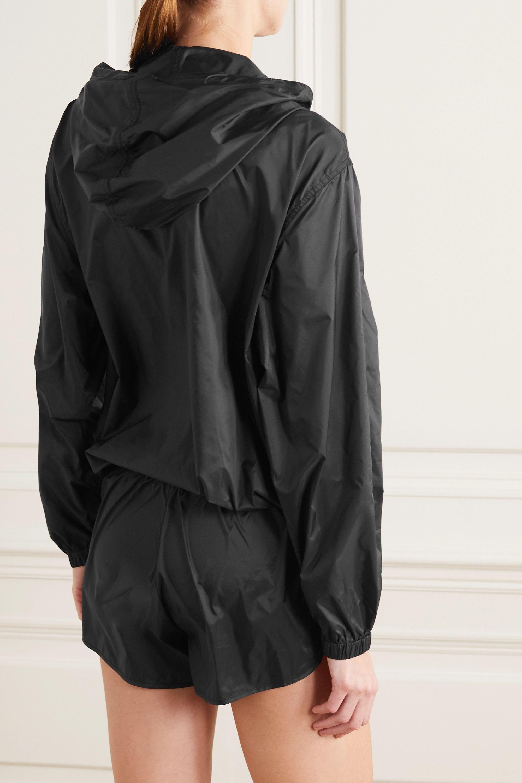 Les Girls Les Boys Printed hooded shell jacket
