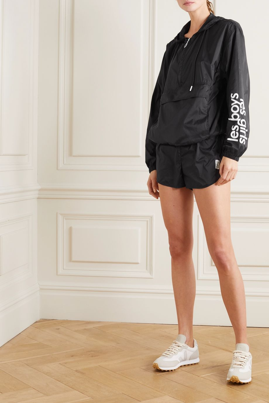 Les Girls Les Boys Printed hooded shell jacket
